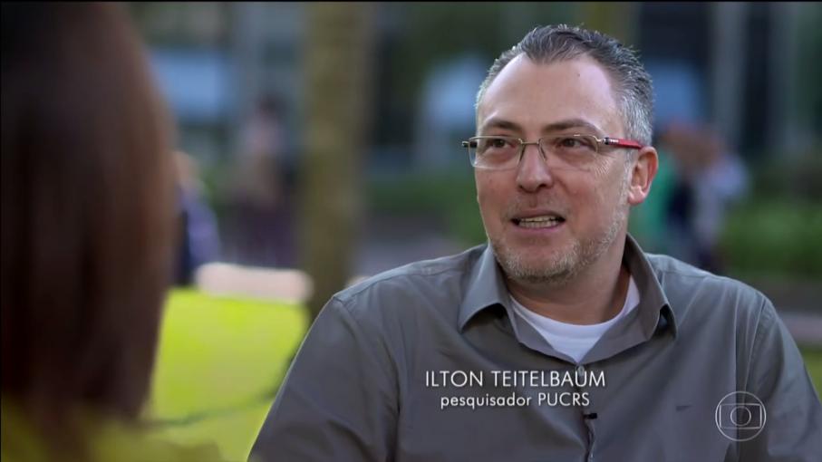 Captura de tela do Fantástico de 2/10/2016 - Ilton Teitelbaum