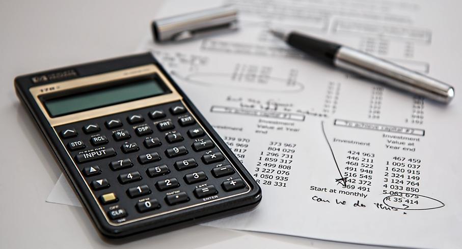 Calculadora, Caneta, Papel, Tabela, Finanças