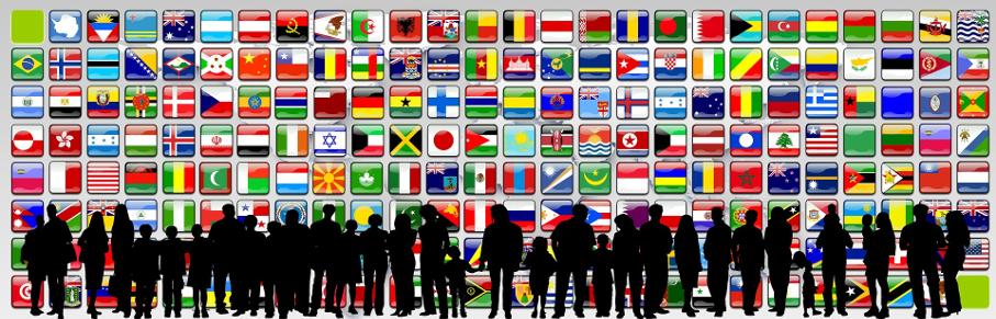 Sombras, Pessoas, Bandeiras, Países