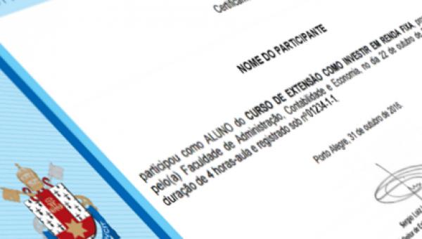 Cursos de extensão e eventos têm certificados on-line