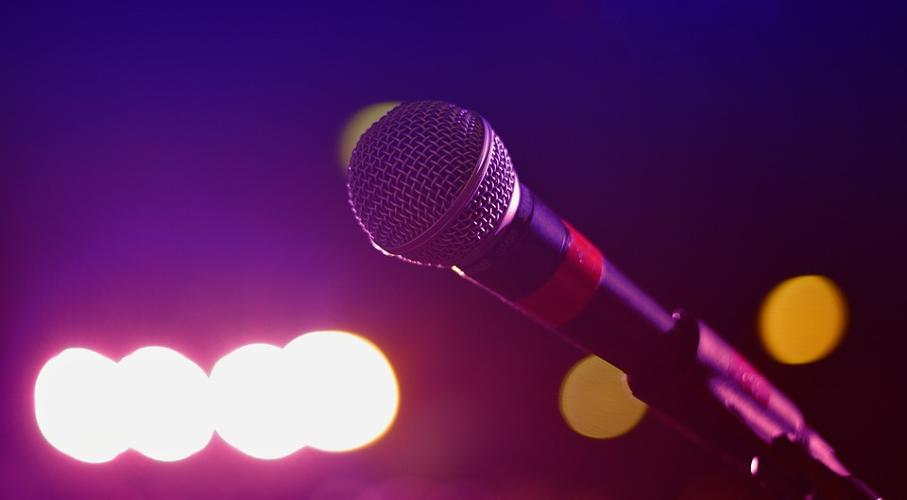Microfone, show, luzes