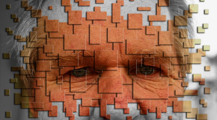 Homem, Olhar, Quadriculado, Pensamento
