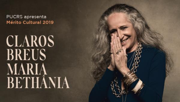 Espetáculo Claros Breus traz Maria Bethânia, no Salão de Atos, a partir das 21h