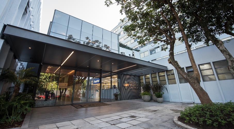 Nova entrada do Hospital São Lucas