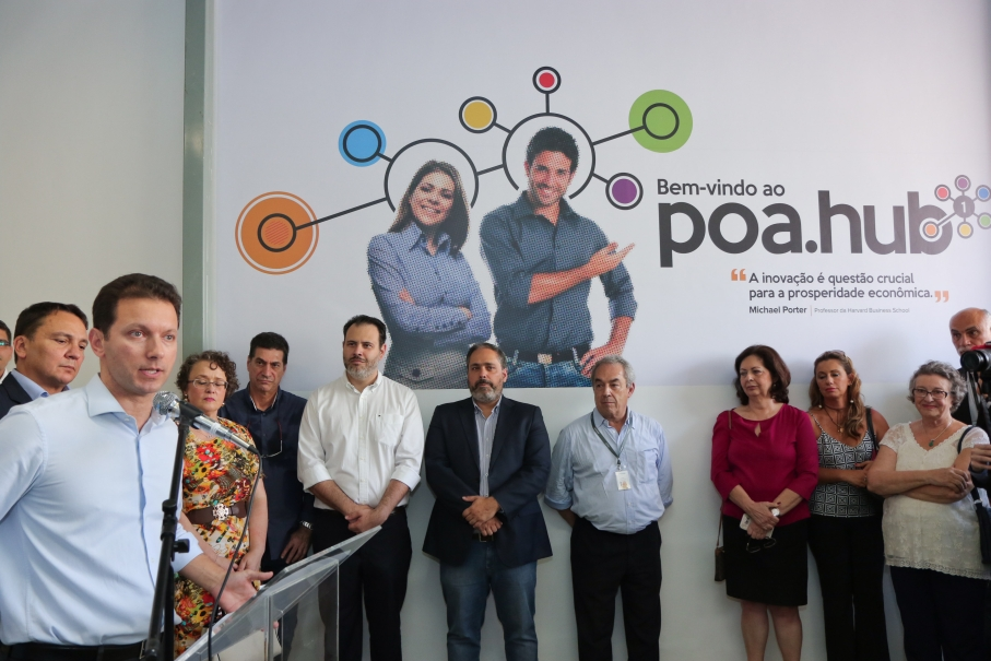Inauguração do espaço poa.hub