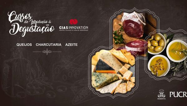 Cursos abordam degustação de queijos, azeites e de charcutaria
