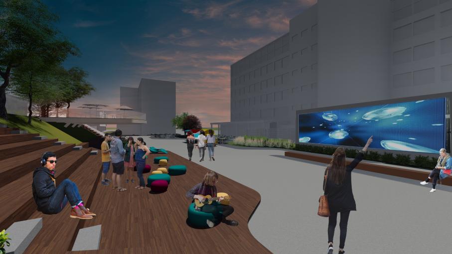 Rua da Cultura ficará entre os fundos do prédio 5 até o prédio 15