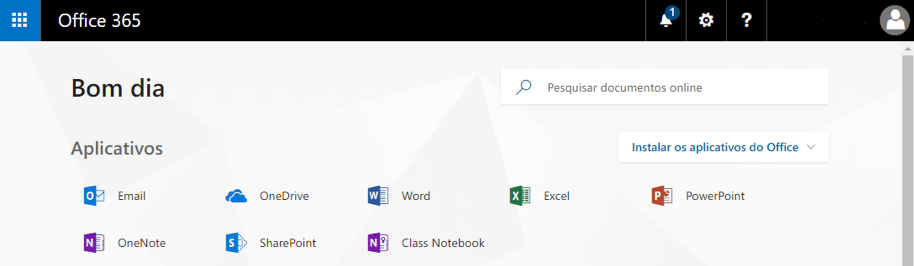 Office 365 - Aplicativos disponíveis