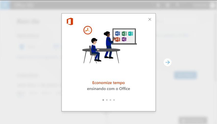 Office 365 - Tela boas-vindas