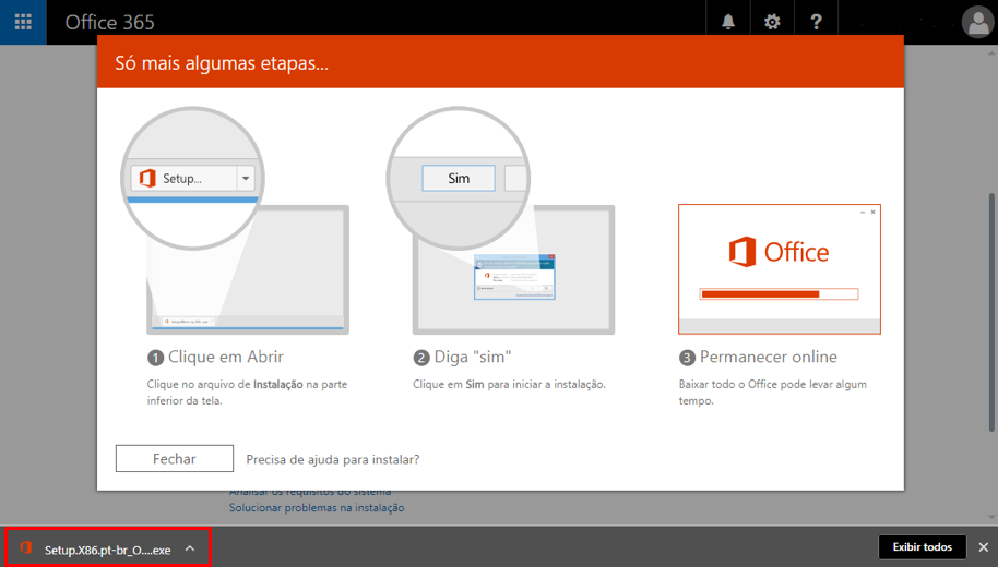 Office 365 - Download do arquivo