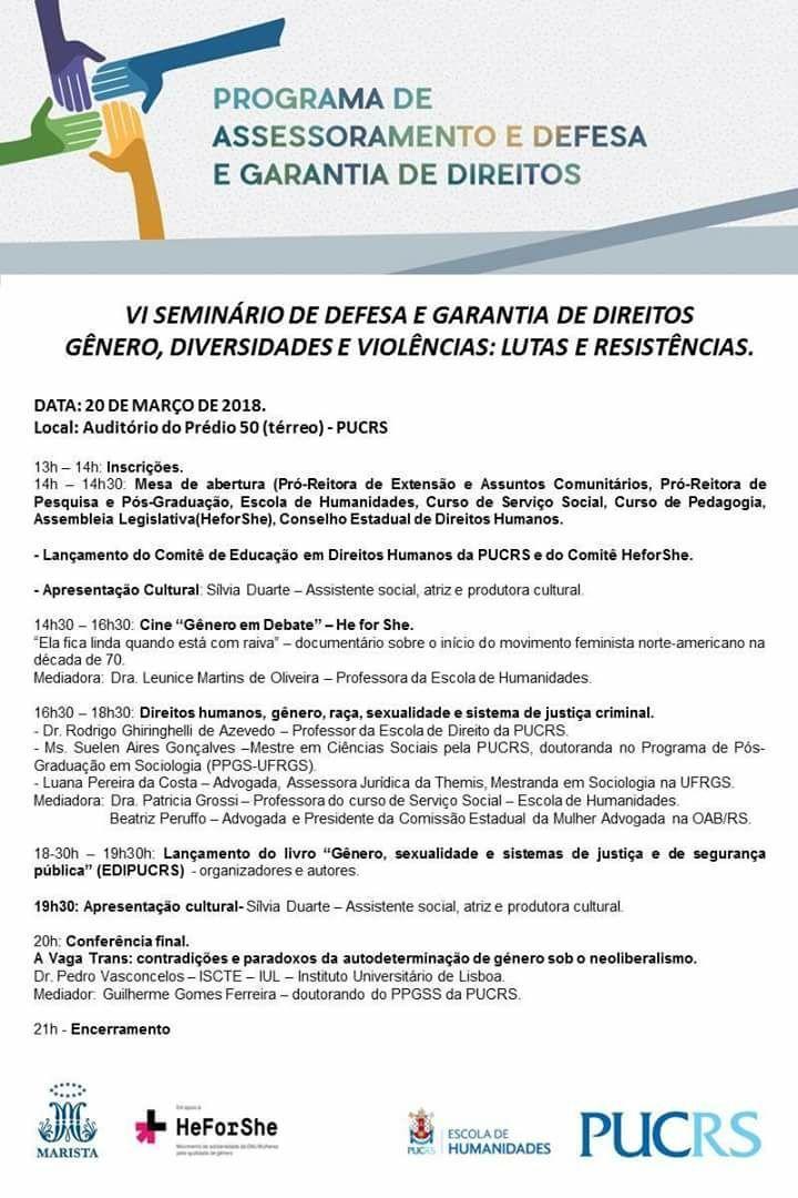Agenda ESCOLA DE HUMANIDADES