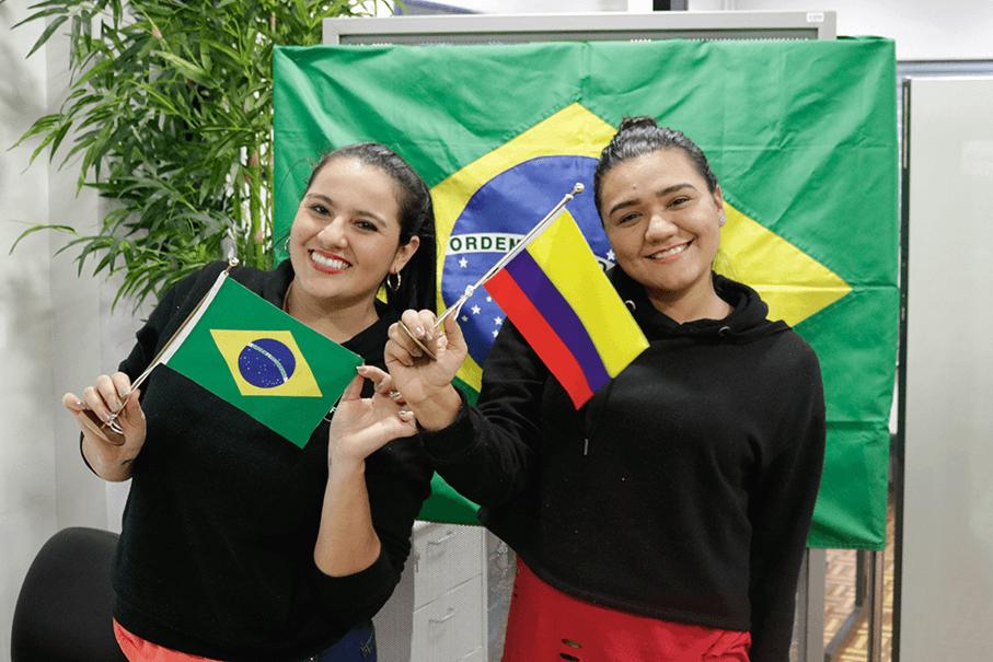 colombianas,Daniela Chacón,Daniela Morales,Corporación Universitaria Minuto de Dios,mobilidade acadêmica,copa do mundo 2018
