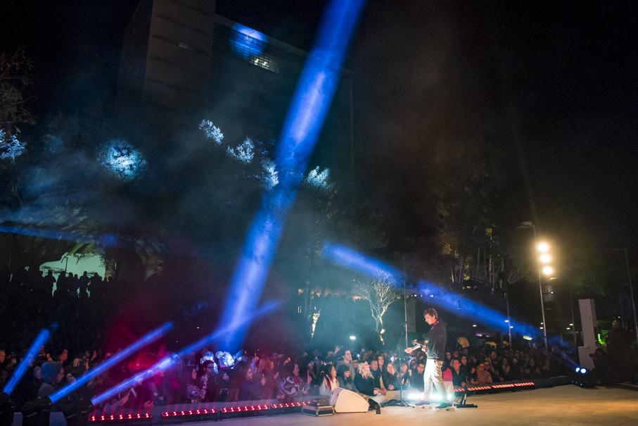 ATL House, Rua da Cultura, lançamento, abertura, inauguração, rádio, RBS, Atlântida, show, pocket show, Di Ferrero, NX Zero, palco