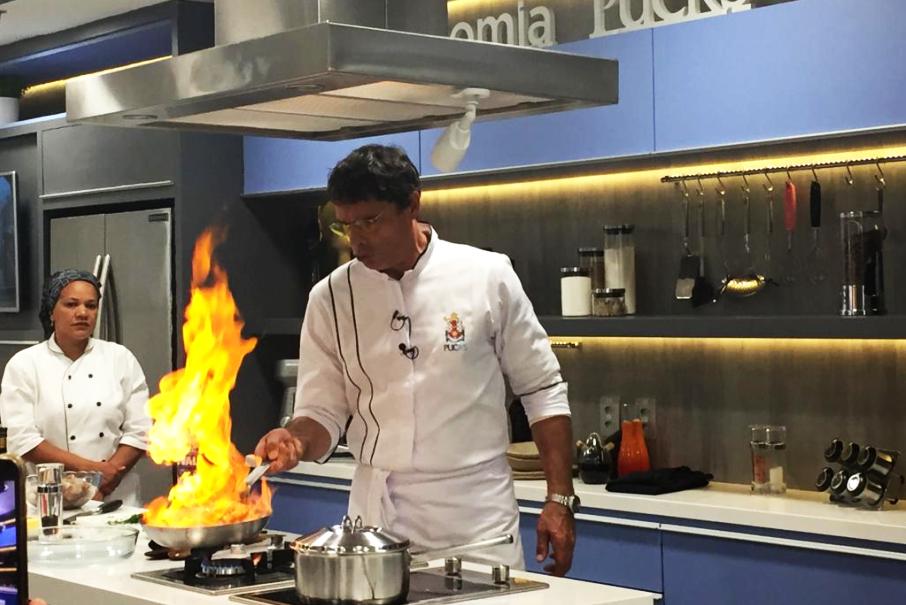 olivier anquier,pós-graduação em gastronomia e cozinha autoral,cozinha mediterrânea,auditório pedagógico cozinha show,escola de ciências da saúde