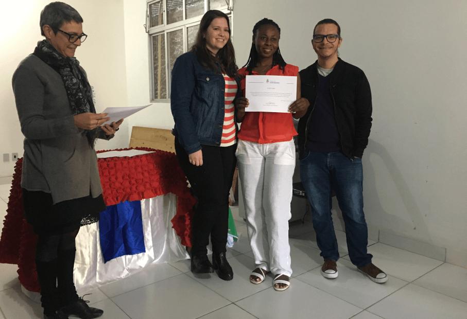 curso de português para haitianos,imigrantes,pastoral,língua portuguesa,certificados