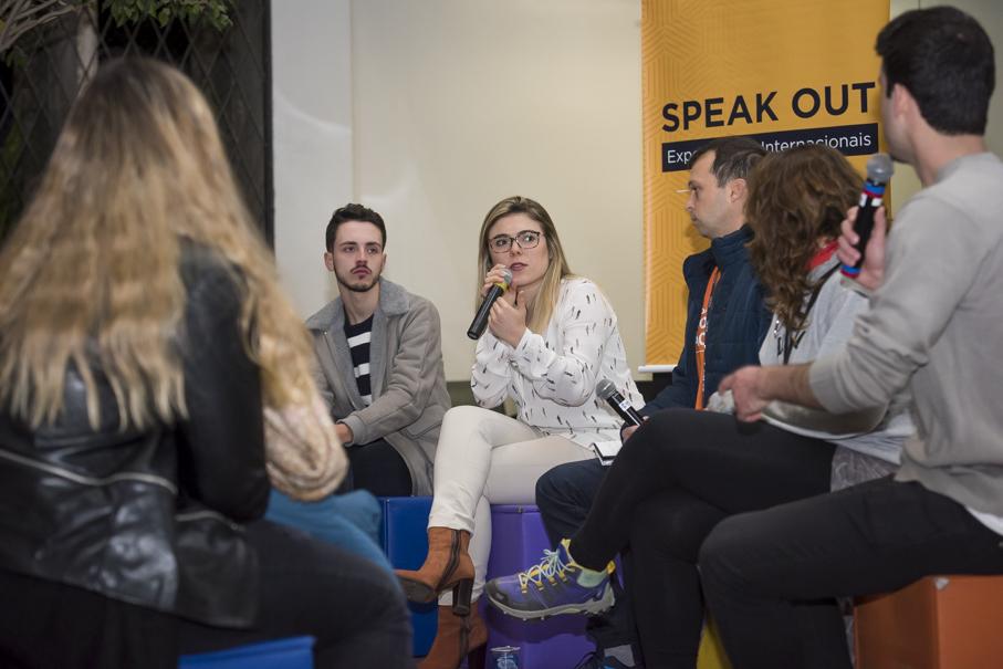 speak out, mobilidade acadêmica, intercâmbio, intercambistas, alunos, internacionalização, ascin, prédio 9