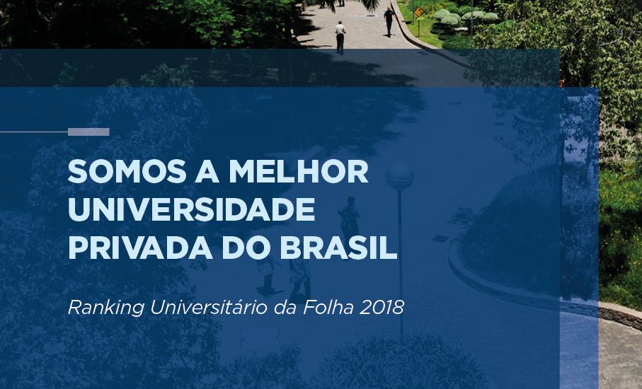 ranking,melhor universidade privada do Brasil