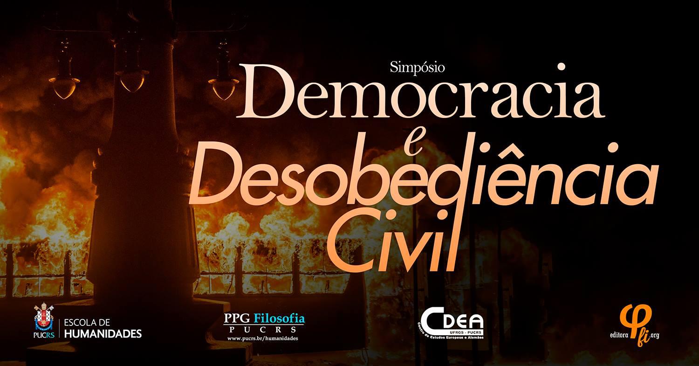 simpósio democracia e desobediencia
