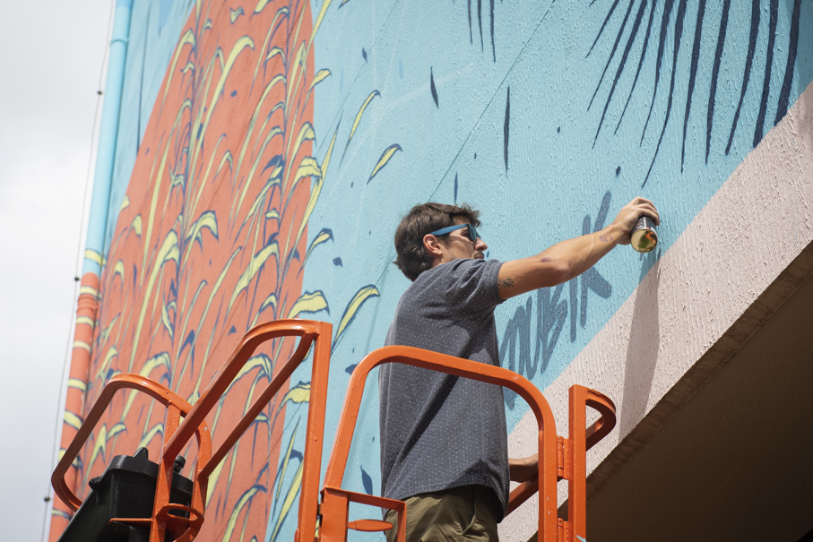 kelvin koubik, mural, graffiti, street art, arte de rua, rua da cultura, pucrs 360, pucrs cultura, instituto de cultura