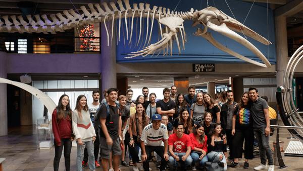 Alunos internacionais conhecem o Museu de Ciências e Tecnologia
