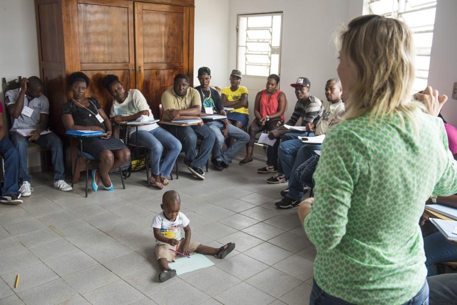 Imigrantes participam de projetos sociais / Foto: Camila Cunha
