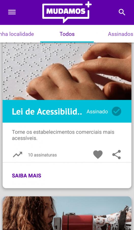 projeto de iniciativa popular, acessibilidade,lei de acessibilidade do consumidor