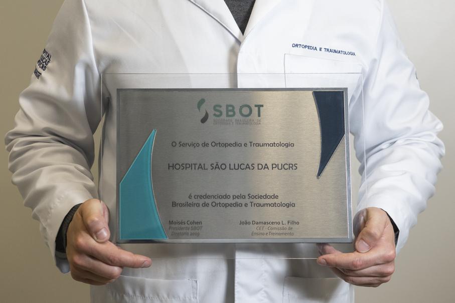 traumatologia, ortopedia, hospital são lucas, HSL, reconhecimento, placa