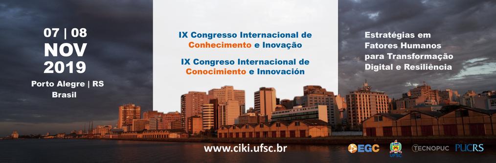 ciki,Congresso Internacional de Conhecimento e Inovação