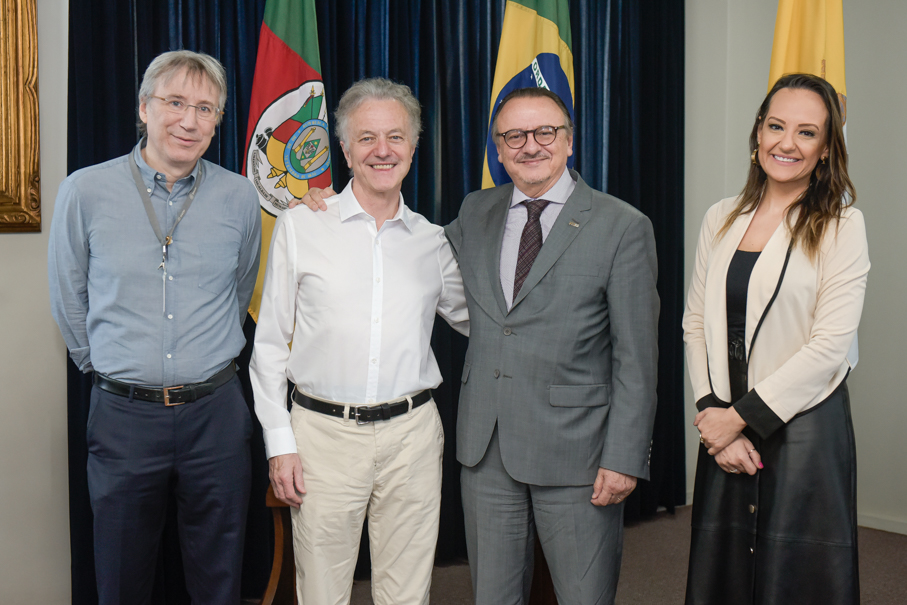Visita do prof Adrian Raine, University of Pennsylvania