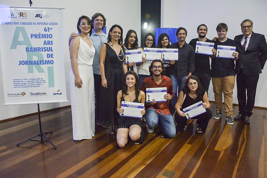 Estudantes da Famecos vencem Prêmio Ari/Banrisul de Jornalismo