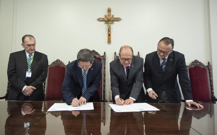 reitoria, visita, internacional, assinatura, convênio, Hospital Xiangaya