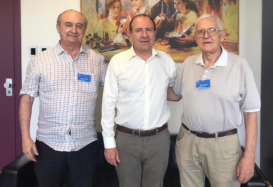 Celso Corsetti, Ir. Evilázio Teixeira e Raul Karl / Foto: Michelle Tarasconi Gil