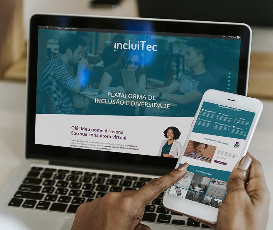 Para ter acesso ao IncluiTec, é preciso acessar o site da plataforma e se cadastrar