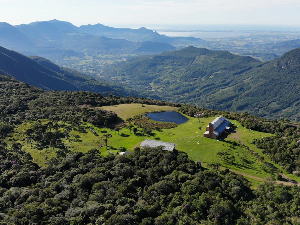 Vista aérea da sede do Pró-Mata / Foto: Divulgação IMA