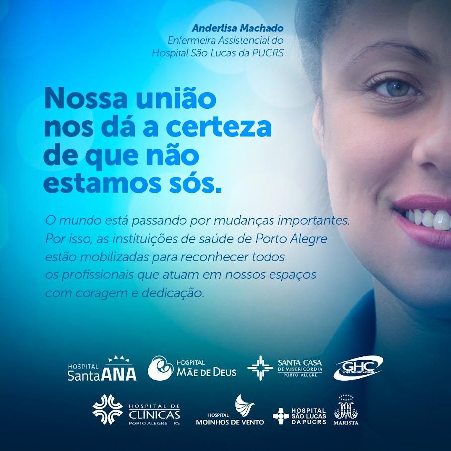 Dia Mundial da Saúde, covid-19, hospital são lucas da pucrs, reconhecimento profissionais de saúde