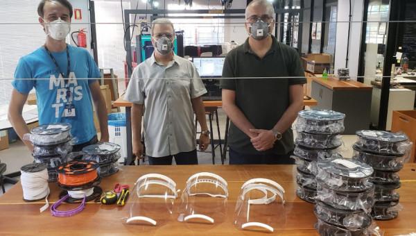 Universidade recebe doação para produção de protetores faciais