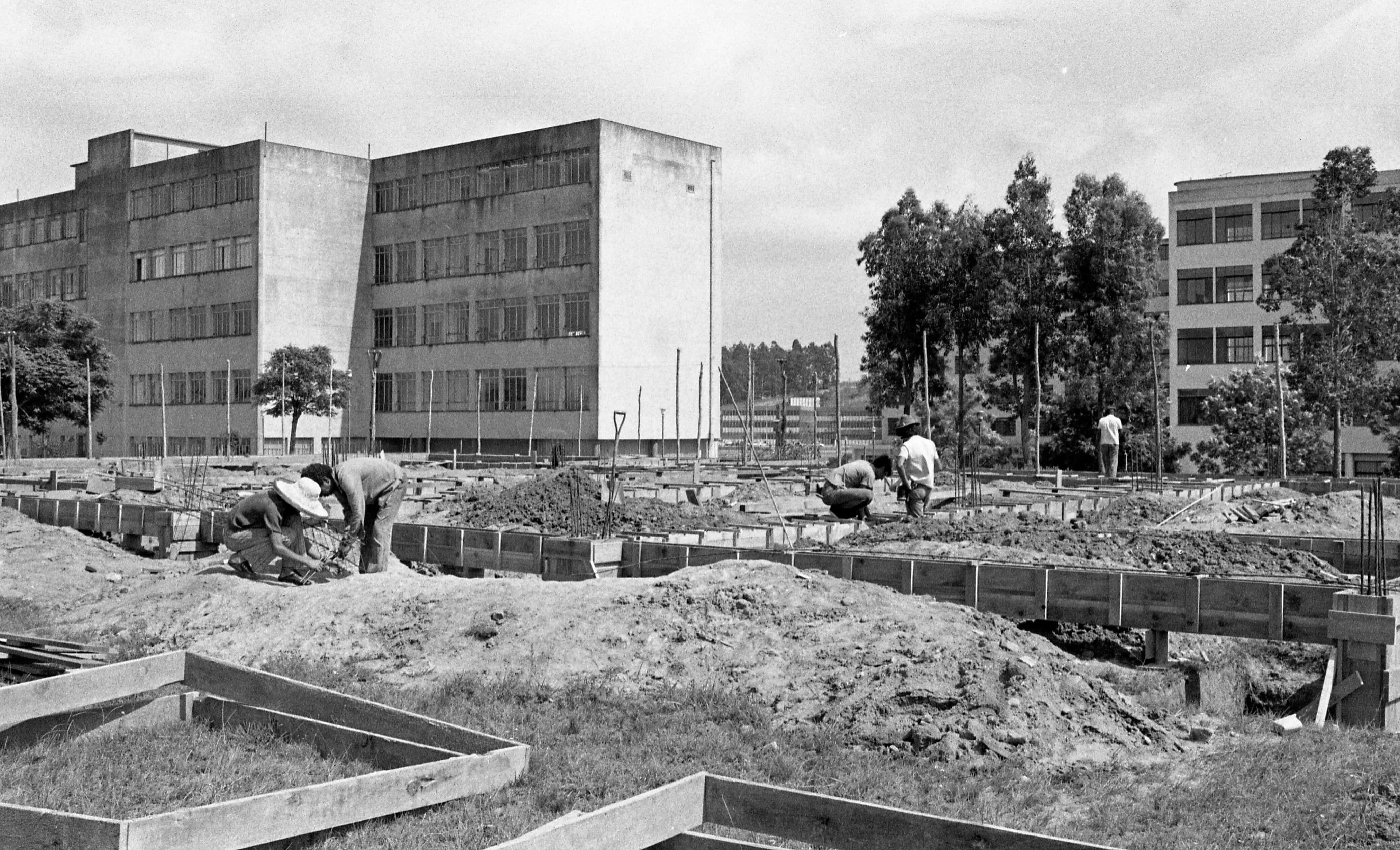 construção da Biblioteca