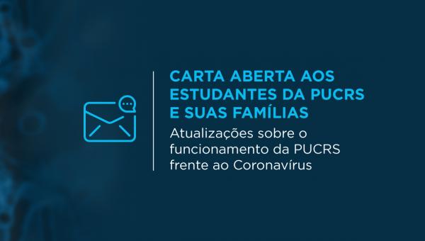 Carta aberta aos estudantes da PUCRS e suas famílias