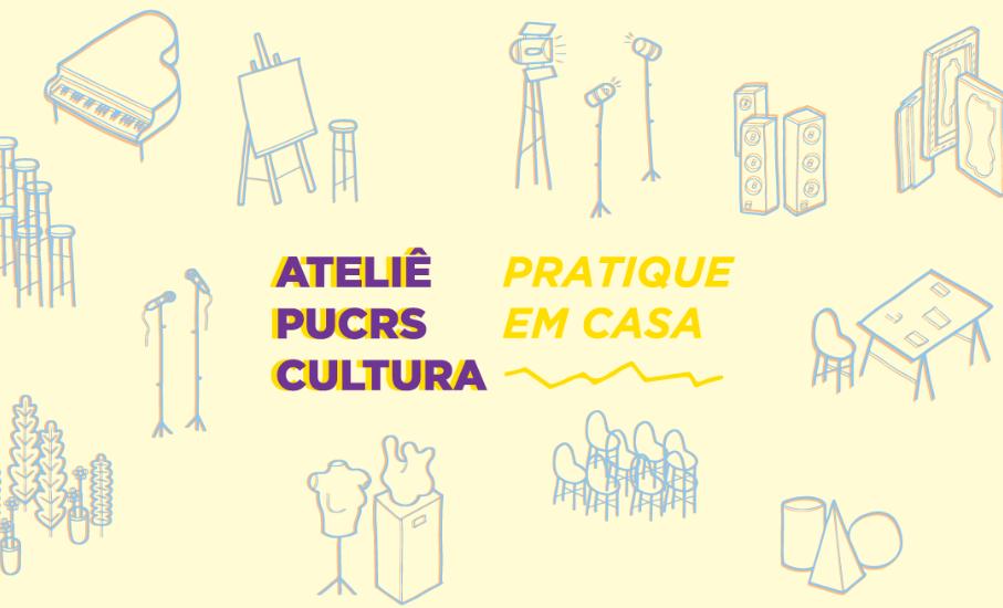 Ateliê PUCRS Cultura: Desenhando formas e traços básicos com Anna Jonko - Instagram do Instituto de Cultura lança a série Pratique em casa, com dicas artísticas