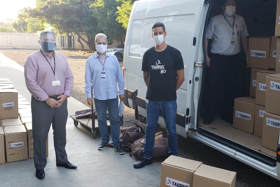 protetores faciais, doações, Projeto GRU, covid-19, hospital são lucas, tecnopuc