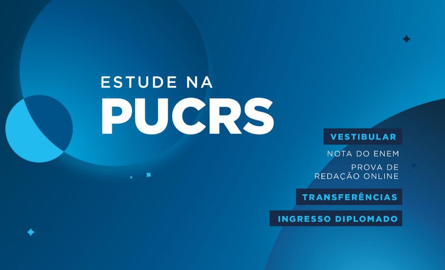 Saiba como estudar na PUCRS com bolsas, créditos e descontos - Utilize sua nota do ENEM ou agende a prova do Vestibular online sem sair de casa