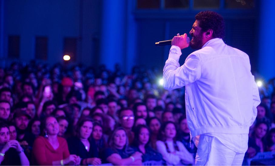 Show do cantor Criolo / Foto: Camila Cunha