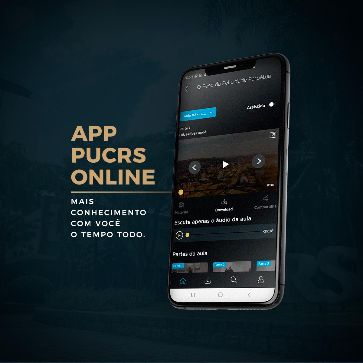 app pucrs online, online, aplicativo