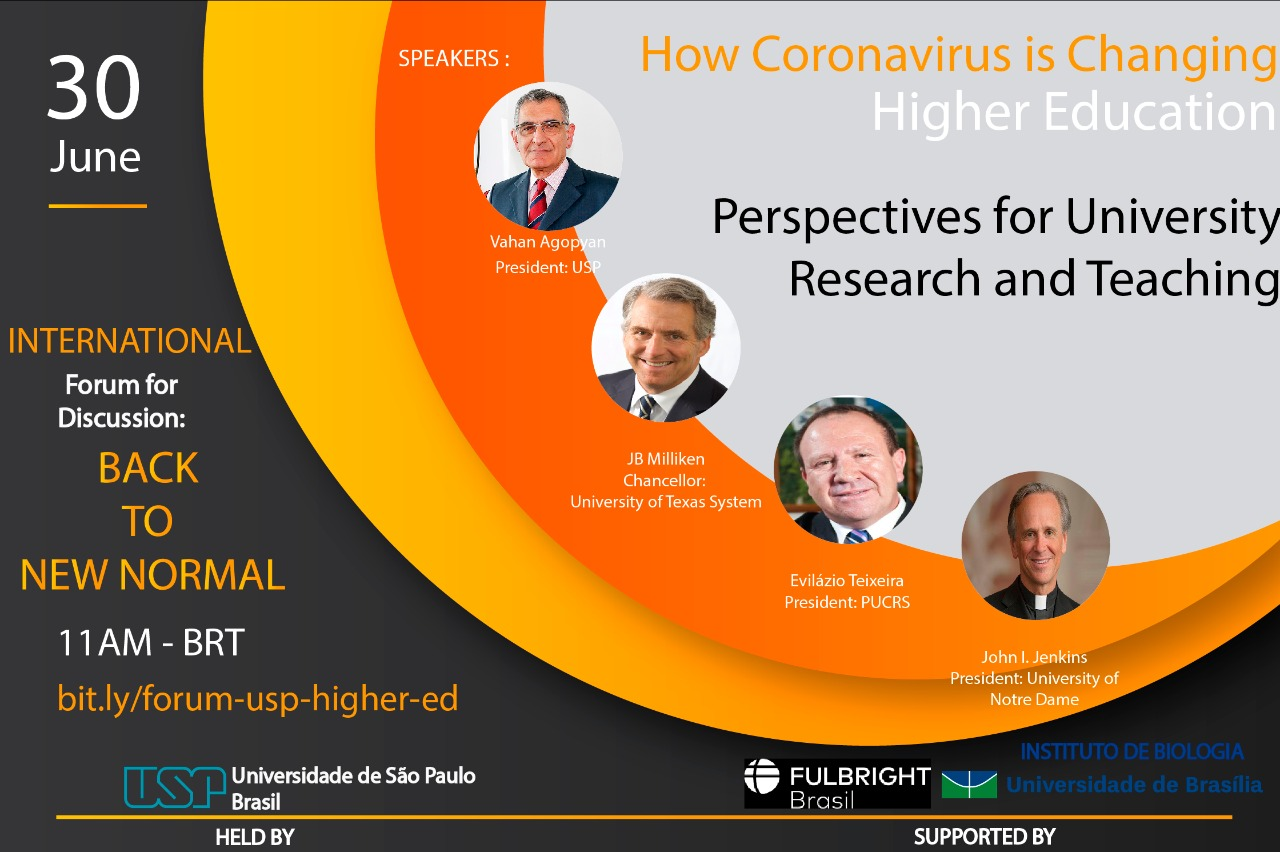 Reitor falará sobre os impactos da pandemia no ensino superior