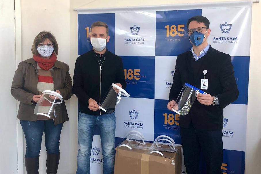 protetor facial, doações, tecnopuc, covid-19