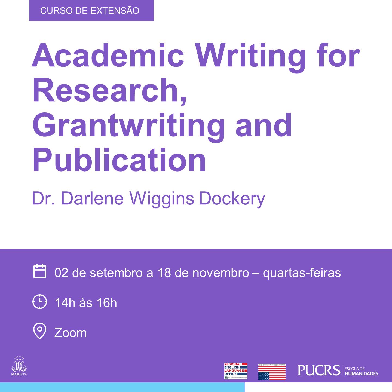 Darlene Wiggins Dockery, curso de extensão, Letras, Escola de Humanidades