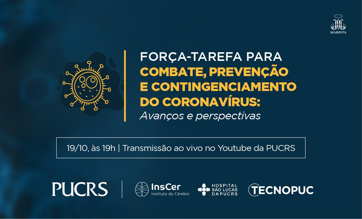 Força Tarefa, coronavírus, Covid-19, webinar