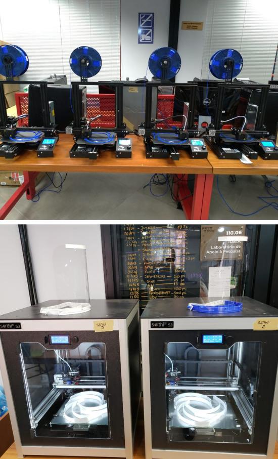 Unimed doa novas impressoras 3D para PUCRS produzir mais protetores faciais