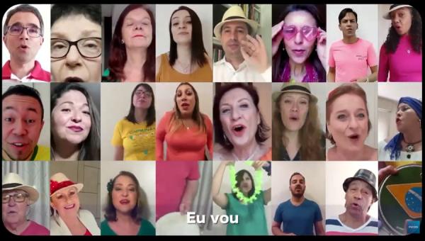 """Coral da PUCRS lança o clipe""""Comqueroupa euvou"""""""
