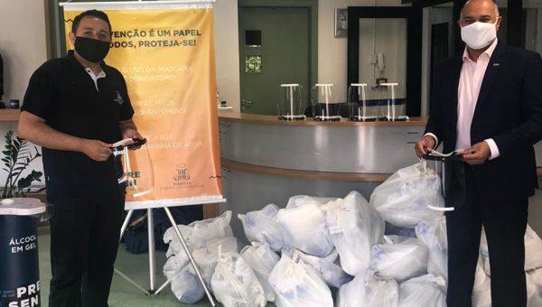 Colégios Maristas recebem mais de mil protetores faciais produzidos no Tecnopuc Fablab
